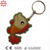 PVC Keychain de Christmas Gift da promoção com Key Ring