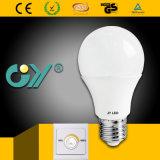 Interruptor A60 Dimmable leve novo do diodo emissor de luz com Ce RoHS