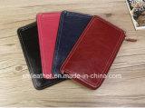 Тонкое портмоне кожи бумажника женщин с владельца карточки