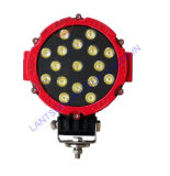 Offroadのための50W Round Red Black LED Work Light