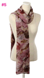 La mode neuve fleurit écharpe de châle de configuration de pivoine la belle