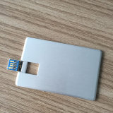 16GB/32GB/64GB USB 3.0 Metal USB Bussiness Card avec Real Capacity (YT-3101-03)