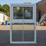 Kz327 белое стекло двойника окна тента профиля цвета UPVC с решеткой