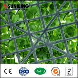 O plástico da cerca do Boxwood sae conversão sintética das folhas artificiais da conversão