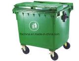 100% de Maagdelijke HDPE Materiële Grote Bak van het Afval 1100L (gelijke met vuilnisauto)
