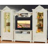 Carrinho da tevê com o gabinete do vinho para a mobília da sala de visitas (312)