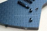 Hanhai Musik-/Schwarz-ungewöhnliche Form-elektrische Gitarre mit Emg-Aufnahmen