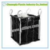 Сплетенный PP черный большой мешок FIBC Jumbo с дефлектором внутрь