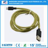 Preço de fábrica para cabo cobrando rápido super do USB da trança o micro