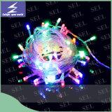 Luz de la Navidad colorida al aire libre de la cadena del día de fiesta del LED