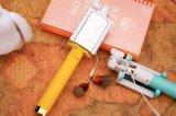 Цветастая ручка Selfie зеркала Macarons с проводом гибким Monopod для мобильного телефона (T1301)