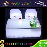 Nachladbarer geleuchteter LED-Stab-Plastiktisch mit Eis-Kasten
