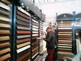 PVC revestido de madeira dos acessórios do revestimento que contorna o Baseboard