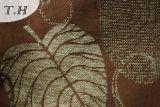 2016 100%년 폴리에스테 큰 잎 자카드 직물 소파와 가구 직물