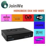 DVB-S2+C+T2 결합 WiFi Herobox Ex4 HD 인공 위성 수신 장치