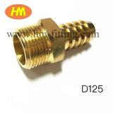 Ajustage de précision mâle en laiton de connecteur de tuyau flexible de boyau de picot d'extrémité de boyau d'ajustage de précision de pipe