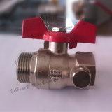 Aluminiumgriff verlegtes Messingkugelventil (YD-1006)