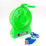 Ventilateur portatif de bureau de bouton de lampe/commutateur du contact DEL de vent violent mini
