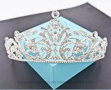 Reina de la corona de la flor de princesa barroca Bride Tiara Crown (corona de los accesorios del pelo del Rhinestone de la corona de la joyería de la flor TA-002)