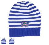 2017 Moda Algodão Stripe Warm Hat Knitted Hat Beanie Cap