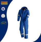 Flammhemmende Baumwollschützen reflektierendes Sicherheits-Gesamt-Ölfeld Winter-Overall für Öl-Gas-Industrie