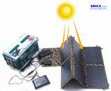 заряжатель USB DC 40W 2-Port солнечный с складывая панелью солнечных батарей 40 ватт для напольный поручать компьтер-книжки (FSC-40B)