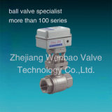 Steel di acciaio inossidabile Electric Actuated Ball Valve CF8m 1000wog