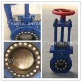 Válvula de puerta del cuchillo de la mezcla de Jinyang Dn350 Pn16