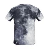 Vêtements de femmes estampés par coton 100% fait sur commande de T-shirt d'hommes de transport gratuit