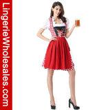 Costume de Cosplay de fille de bière de robe d'usager de carnaval de Veille de la toussaint des femmes sexy