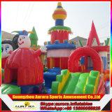熱い販売の商業安く膨脹可能な警備員、スライドが付いている跳躍の弾力がある城