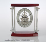 Horloge en bois fabriquée à la main de Tableau de qualité pour l'horloge cinq étoiles K3046 d'hôtel