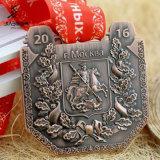 Il metallo in lega di zinco Bronze antico di 3D Russia mette in mostra il medaglione con la sagola