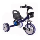 triciclo do pedal de 2017 3 crianças da roda com a roda leve de Falshing