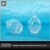 Runde Glasnagellack-Flasche mit Diamant-Muster