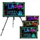 Panneau d'écriture effaçable de signe de menu de message du néon DEL