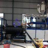 Chaîne de production spiralée tortillée par mur creux de pipe de HDPE machine enroulée d'extrudeuse de pipe