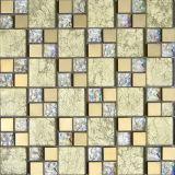 mosaico di vetro della stagnola di oro di 300X300mm (VMW3204)