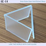 5mm Extra Clear Acid Etched Float Glass / Embossing Francés / Hermoso Vidrio / Vidrio Decorativo