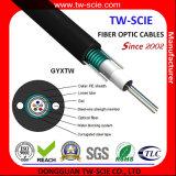 Câble blindé GYXTW de fibre d'acier en forme de tuyau central de Loost de 12 noyaux