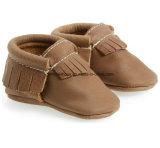 Chaussures de bébé en cuir d'intérieur 09