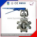 Tipo válvula do talão de borboleta do elevado desempenho do aço inoxidável com suporte