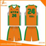 Healong Digital gedruckter Muster-Großverkauf-Basketball Jersey