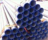 Труба BS1387 ASTM A53 горячая окунутая гальванизированная стальная с крышками продетого нитку конца и пластмассы