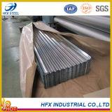 Feuille en acier galvanisée de toiture ridée par approvisionnement d'usine pour la construction