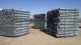 La frontière de sécurité verte en acier a utilisé la vis au sol galvanisée