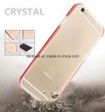Personnaliser bon marché la caisse transparente de téléphone d'éclairage LED de TPU pour l'iPhone 5 cas de couverture de 6 téléphones mobiles