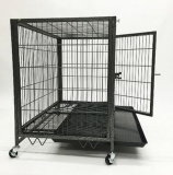 Quadratisches Tube Dog Cage mit Wheels