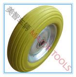 Rueda libre plana de goma de la rueda 200X50 de la espuma de la PU de la carretilla de rueda
