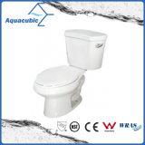 Siphonic 1.28gpf escolhe o toalete branco alongado de duas partes nivelado (ACT9046)